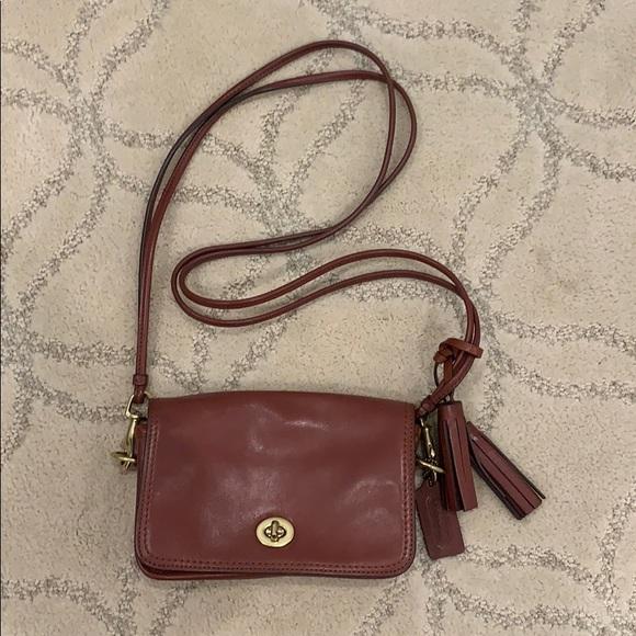 Coach Handbags - Coach Brown Leather Crossbody Bag